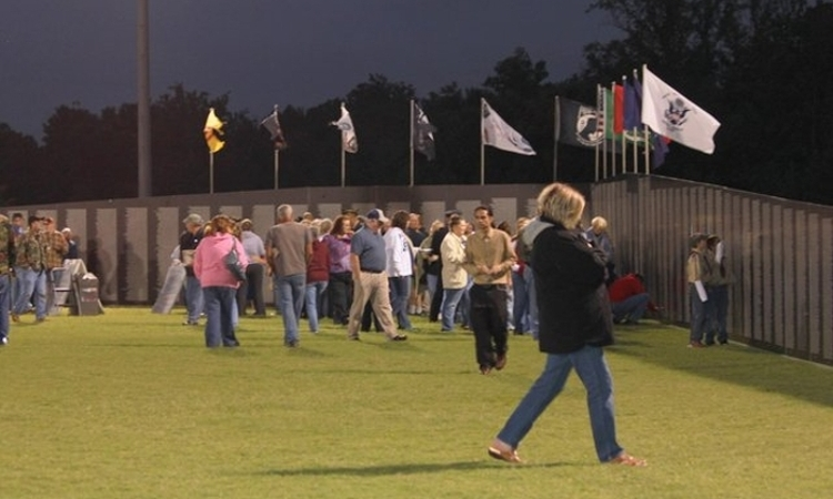 Vietnam Traveling Memorial Wall on Campus 2014